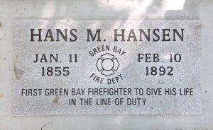 Hans M Hansen tombstone